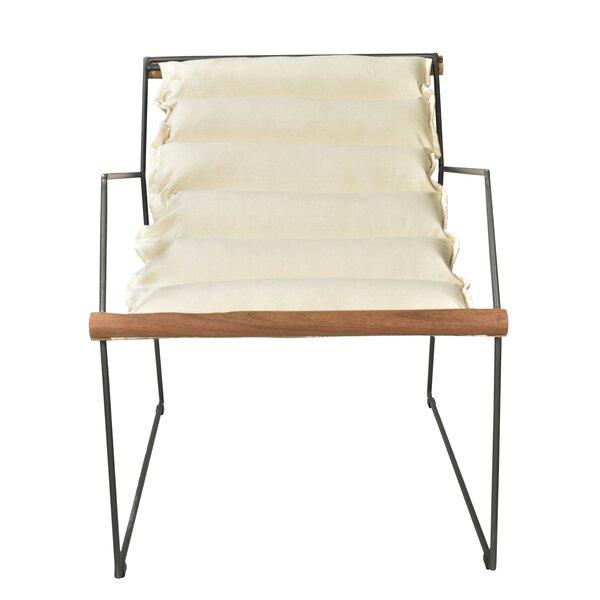 Easterwood Canvas/Iron Armchair by Brayden Studio