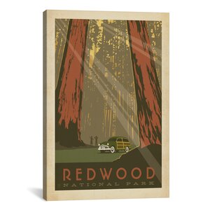 Anderson Design Group Asa National Parks Redwood Graphic Art on Wrapped Canvas by iCanvas