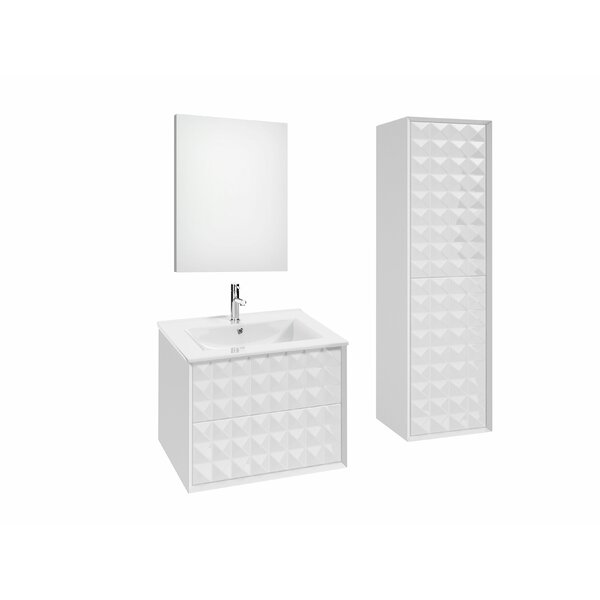 Jager 35.3 Single Bathroom Vanity Set with Mirror by Orren Ellis