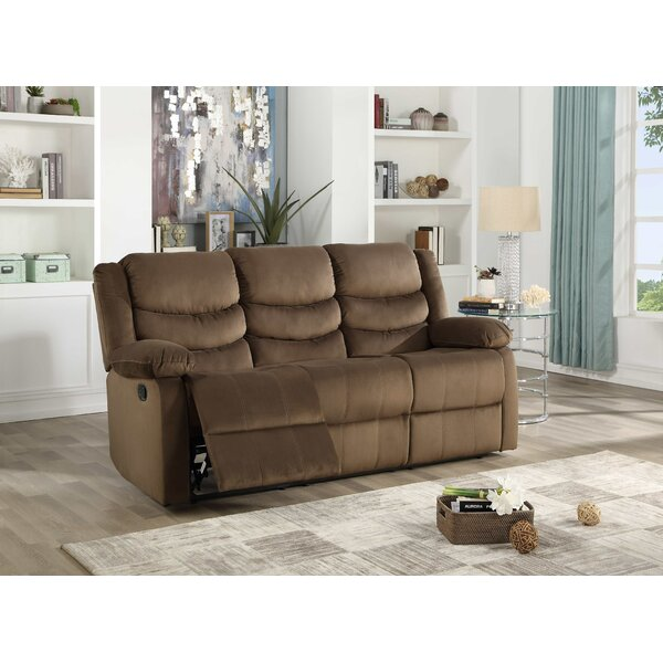 Excellent Reviews Medved Suede Reclining Sofa by Winston Porter by Winston Porter