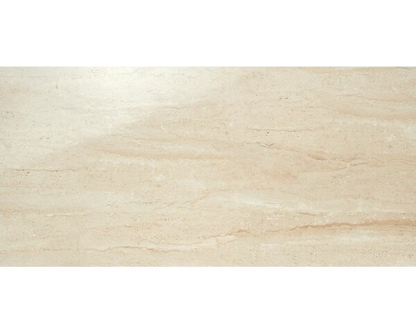 Travertini 12 x 24 Porcelain Field Tile in Polished Beige by Samson