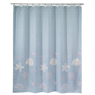 Inexpensive Castille Shells Shower Curtain ByHighland Dunes