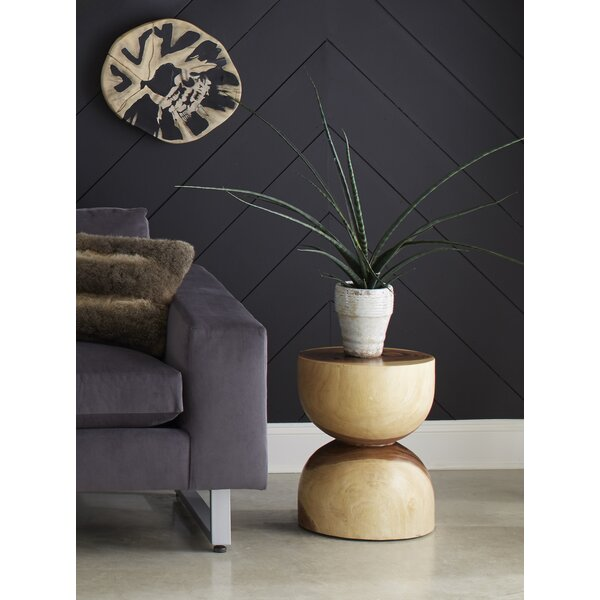 Clifton Wood Hour Glass End Table By Foundry Select