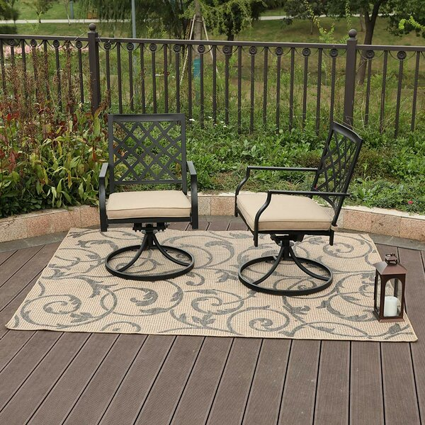 Peery Outdoor Swivel Patio Chair With Cushions (Set Of 2) By Alcott Hill