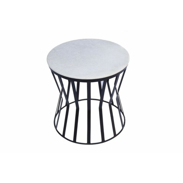 Dansby Elegant Iron End Table by Ivy Bronx