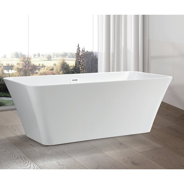 67 x 29.5 Freestanding Soaking Bathtub by Vanity Art