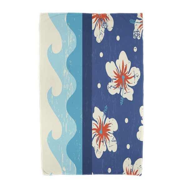 Floral Print Beach Towel by Bay Isle Home
