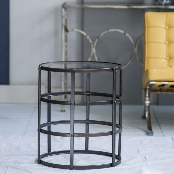 Katelyn Drum Sled End Table By Williston Forge