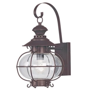 Compare prices Shielo 1-Light Outdoor Wall Lantern By Longshore Tides