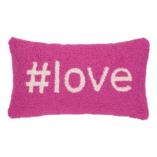 Love Hook Wool Lumbar Pillow by Peking Handicraft
