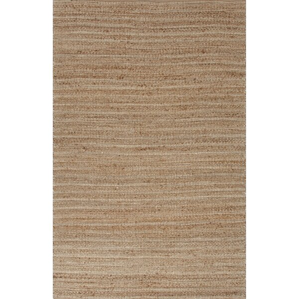 Elmwood Hand-Woven Taupe/Ivory Area Rug by Rosecliff Heights