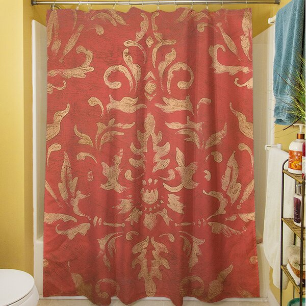Golden Baroque Shower Curtain by Manual Woodworkers & Weavers
