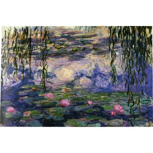 'Water Lilies No.6' by Claude Monet Painting Print on Canvas