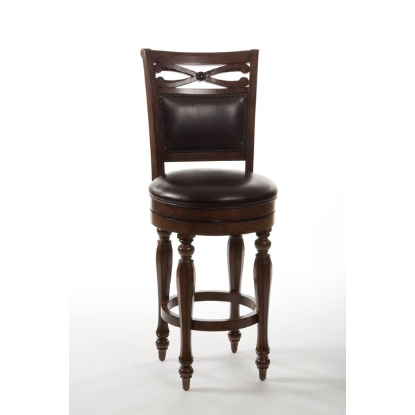 Hamilton Park 26 Swivel Bar Stool with Cushion by Hillsdale Furniture