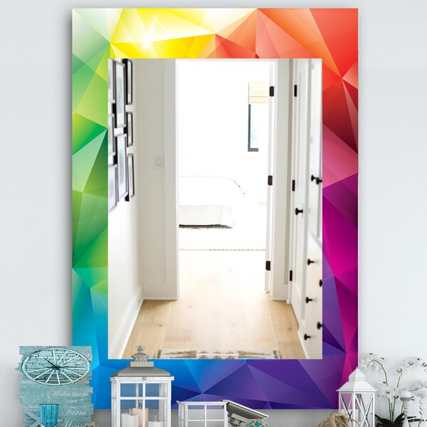 Triangular Colourfields 25 Wall Mirror