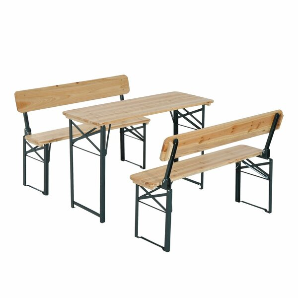 Shook Folding Picnic Table with Bench by Freeport Park