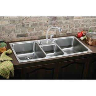 save to idea board  elkay  gourmet 43   x 22   kitchen sink triple kitchen sinks you u0027ll love   wayfair  rh   wayfair com