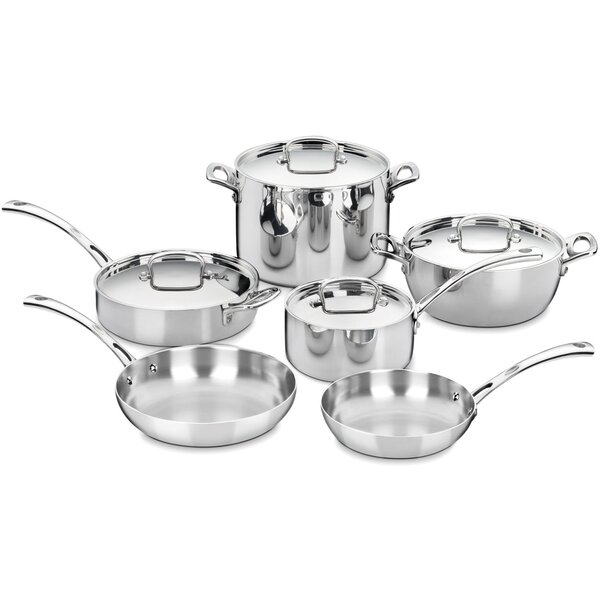 French Classic Stainless 10-Piece Cookware Set by Cuisinart