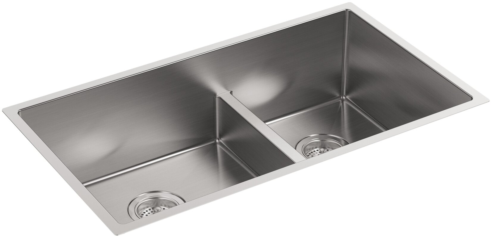Stainless Steel Double Sink With Low Divider ...
