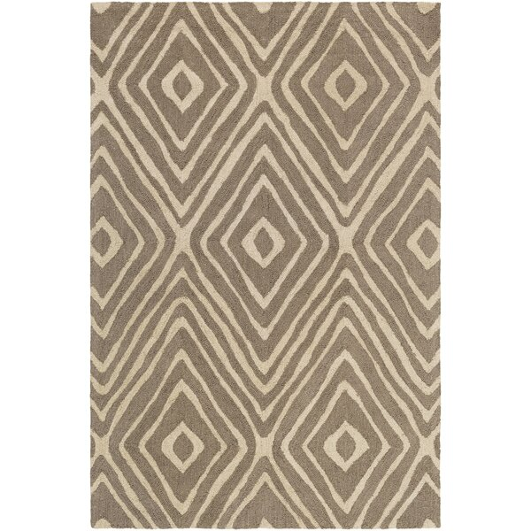 Juhasz Hand-Tufted Taupe/Beige Area Rug by Bloomsbury Market