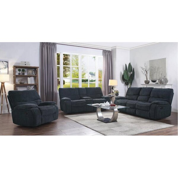 Eneas Motion 3 Piece Reclining Living Room Set by Latitude Run