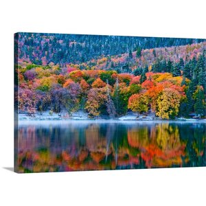 'Autumn Lake' by Gary Crandall Graphic Art on Wrapped Canvas by Great Big Canvas