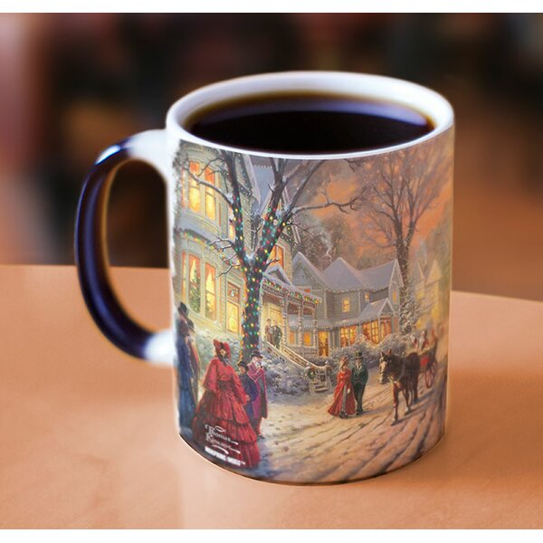 Thomas Kinkade A Victorian Christmas Heat Reveal Coffee Mug by Morphing Mugs