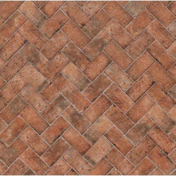 Chicago Brick 4 x 8 Porcelain Mosaic Tile in Wrigley by Tesoro