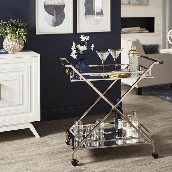 Catrine Bar Cart by Orren Ellis Orren Ellis