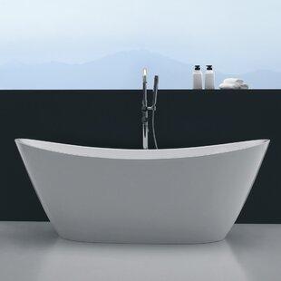 Affordable Opalo 60 x 27 Freestanding Soaking Bathtub ByOrren Ellis
