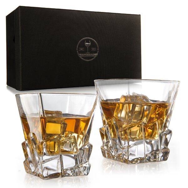 Iceberg Luxury Elegant 12 oz. Glass Whiskey Glass (Set of 2) by The Wine Savant
