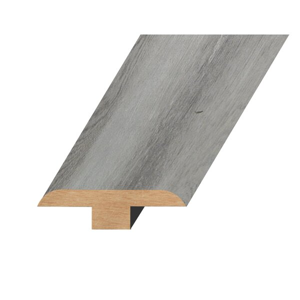 0.47 x 1.81 x 94.49 Oak T-Molding in Gray Silver by Concept One Accessories