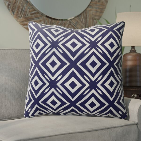 Omprakash Cotton Indoor/Outdoor Geometric Euro Pillow