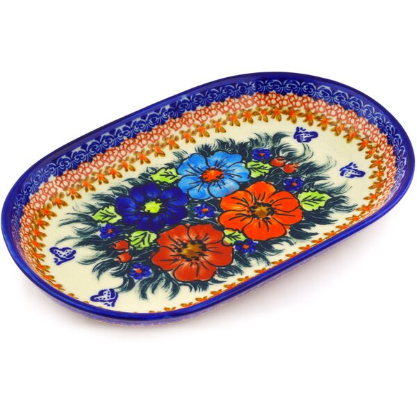 Polish Pottery 11 Oval Platter by Polmedia
