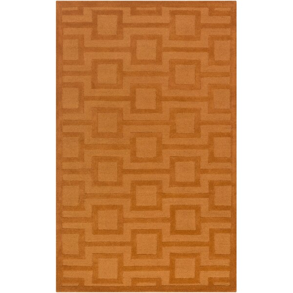 Sarai Hand-Tufted Tangerine Area Rug by Mercer41