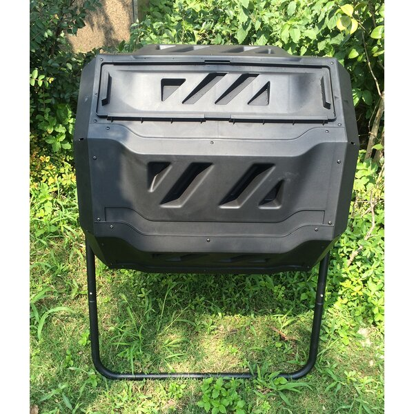 2 Chamber Rotary 42 Gal. Tumbler Composter by Kool