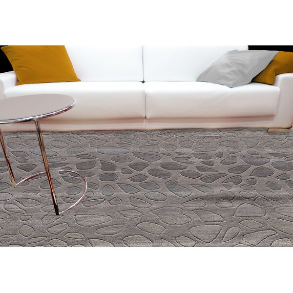 Alexina Hand-Tufted Silver Area Rug by Wade Logan