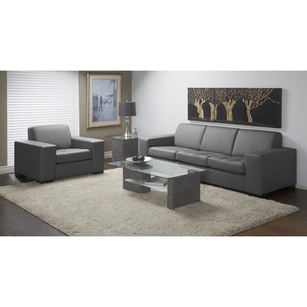Wenlock 2 Piece Leather Living Room Set by Orren Ellis