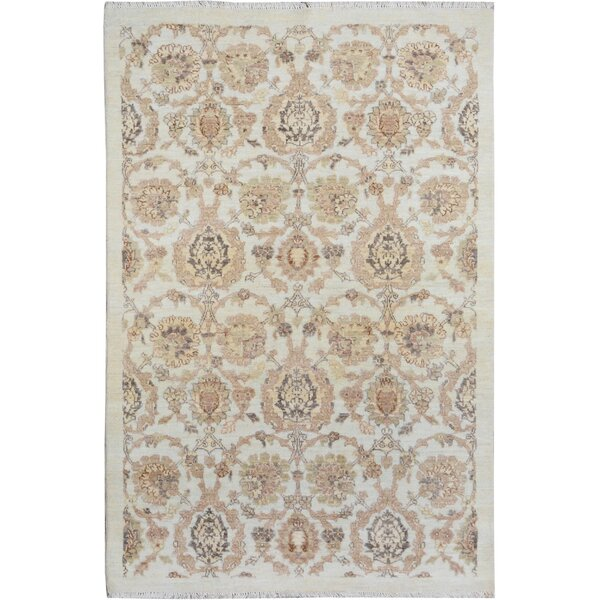 One-of-a-Kind Dorn Hand-Knotted Wool Ivory/Tan Area Rug by Isabelline