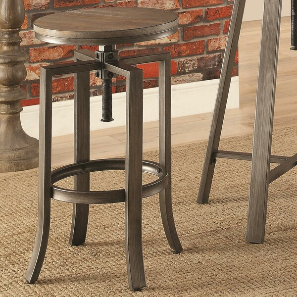 Tadashi Adjustable Height Bar Stool (Set of 2) by 17 Stories 17 Stories