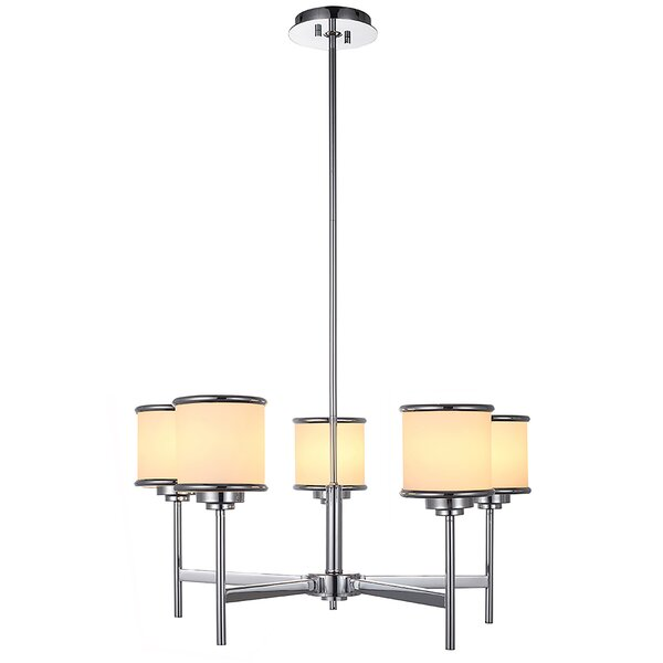 Temme 5 - Light Shaded Classic / Traditional Chandelier by Mercer41 Mercer41