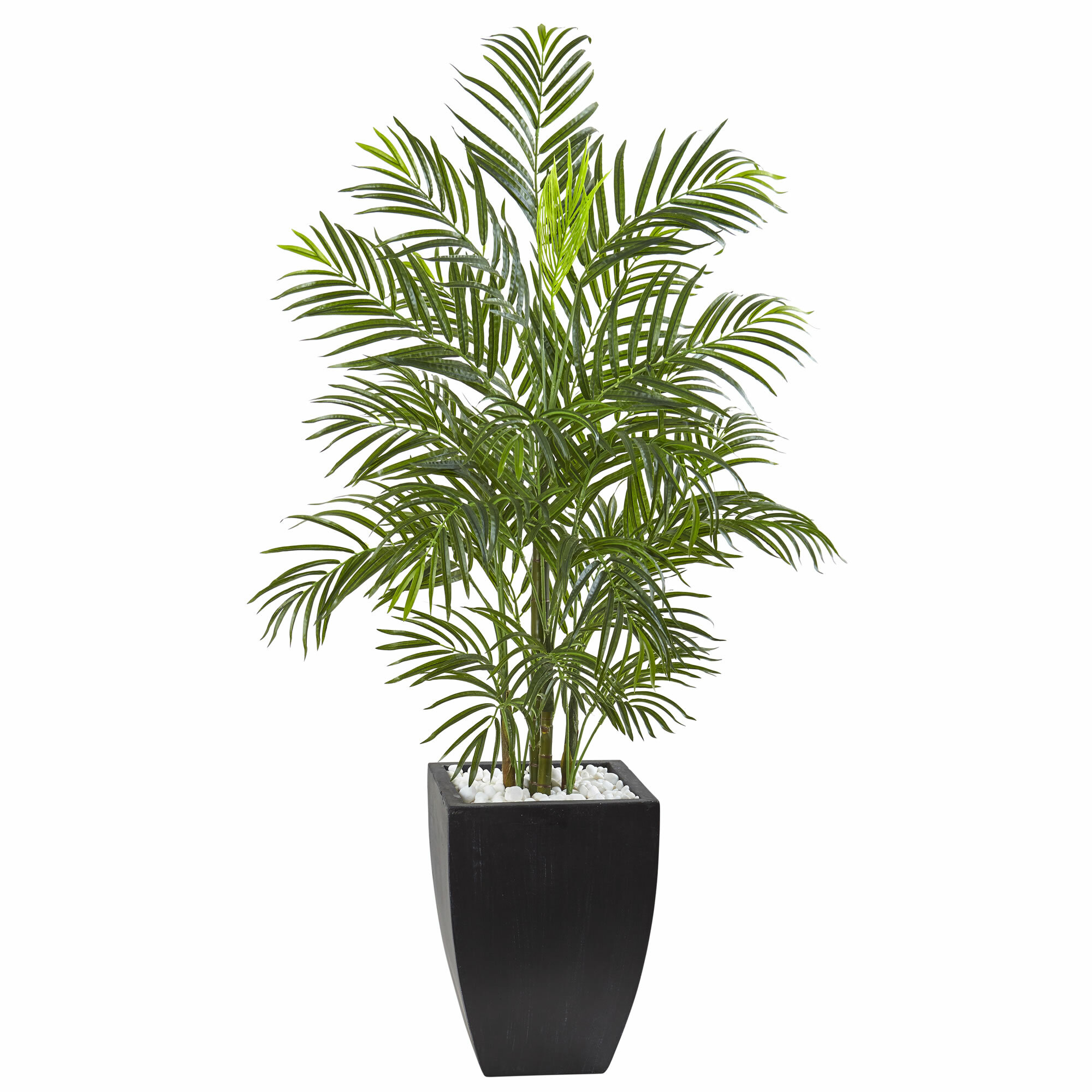 entracing palm tree type house plant.  Nearly Natural Areca Palm Tree in Planter Reviews Wayfair