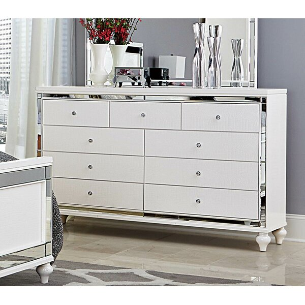Swanley Wooden 9 Drawer Double Dresser by Everly Quinn