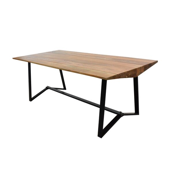 Jayesh Solid Wood Dining Table by Union Rustic