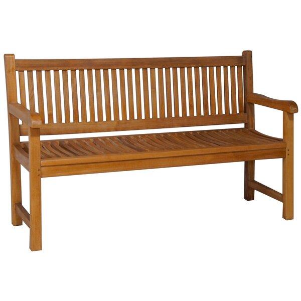 Quinlan Triple Teak Garden Bench by Darby Home Co