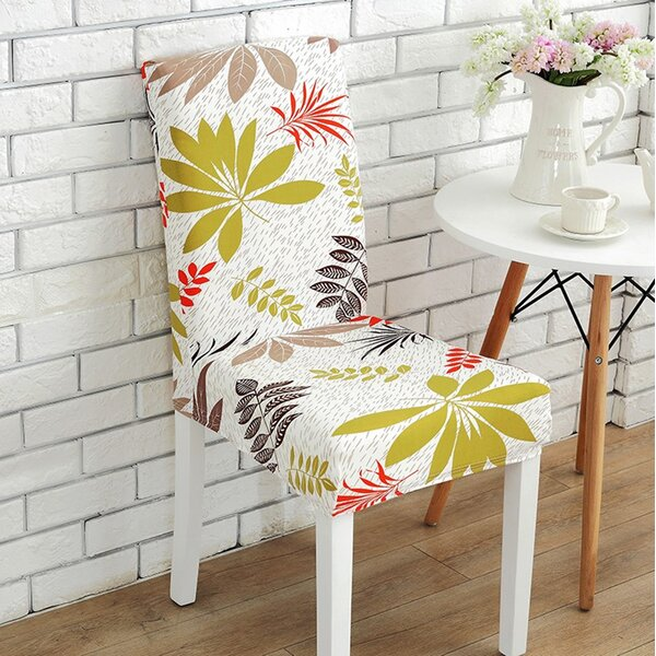 Leaf Elegant Box Cushion Dining Chair Slipcover by
