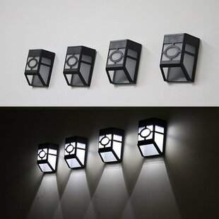 Gherardo Solar And Battery Powered 4 Light Outdoor Wall Lantern (Set Of 4)