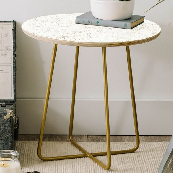 Holli Zollinger Sunburst Light Round End Table by East Urban Home