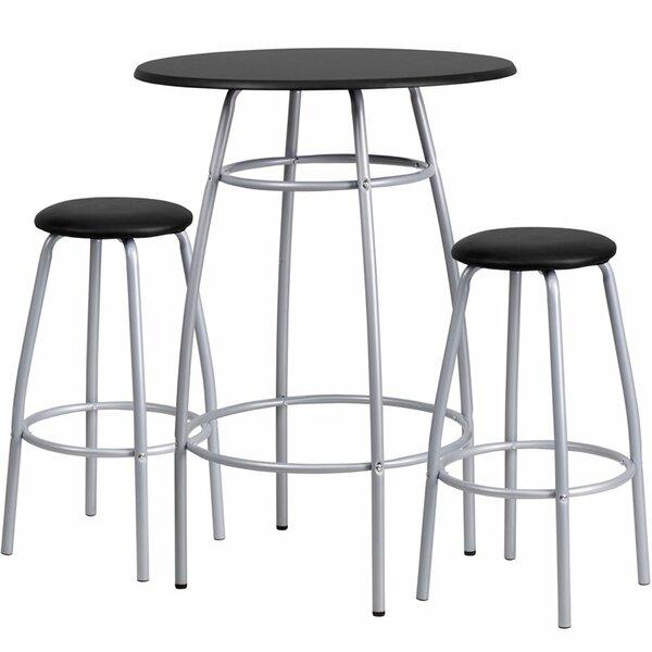 Eberhard 3 Piece Pub Table Set by Ebern Designs