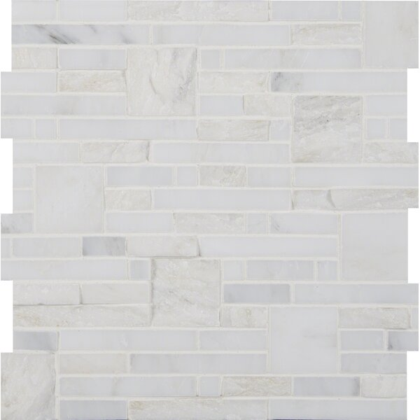 Greecian White Random Sized Marble Mosiac Tile in White by MSI